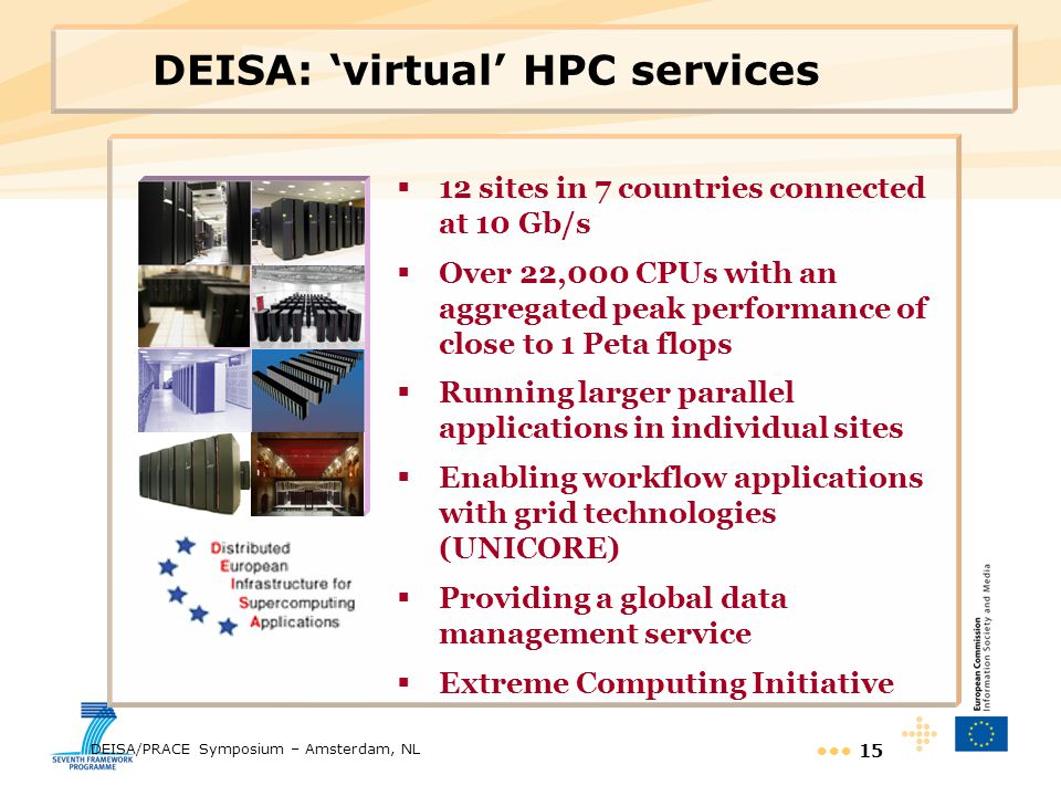 DEISA: 'virtual' HPC services