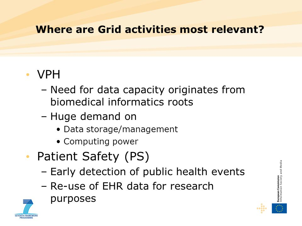Where are Grid activities most relevant
