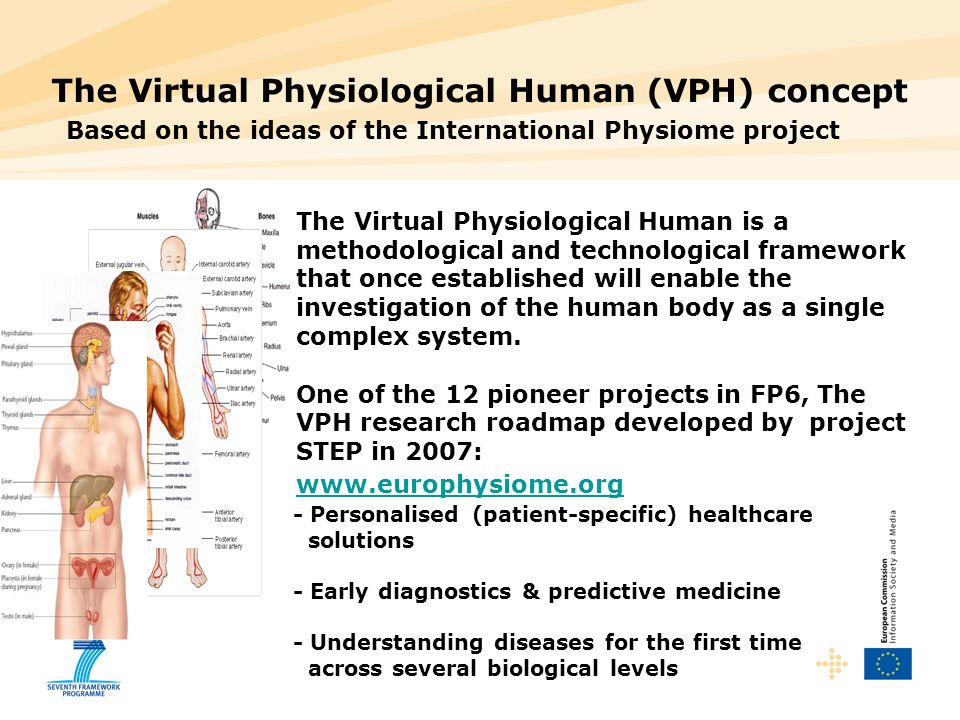 The Virtual Physiological Human (VPH) concept