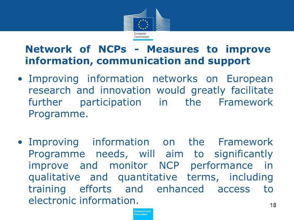 Network of NCPs - Measures to improve information, communication and support