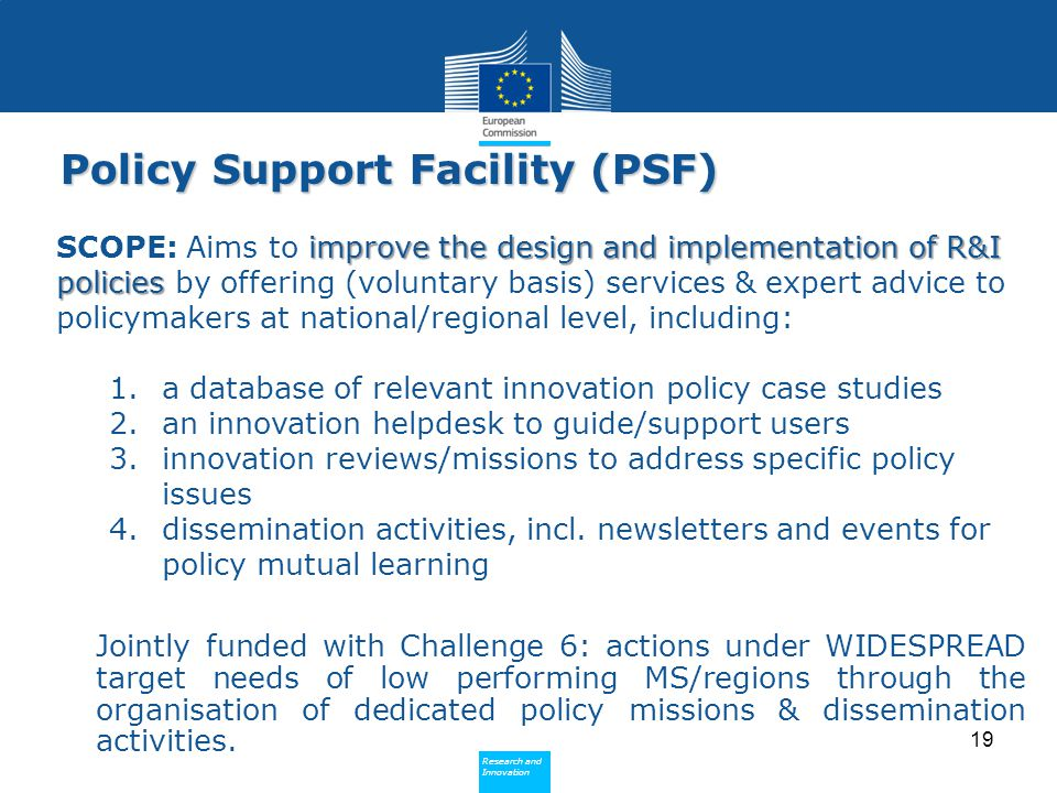 Policy Support Facility (PSF)