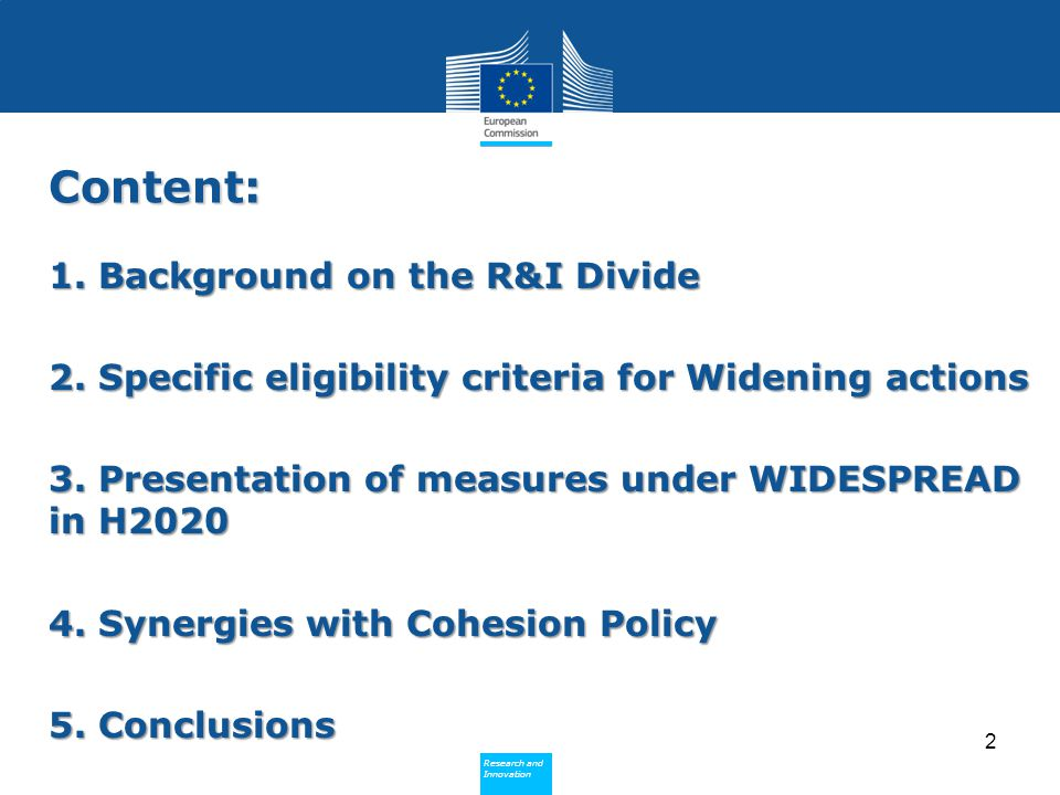 Content: 1. Background on the R&I Divide
