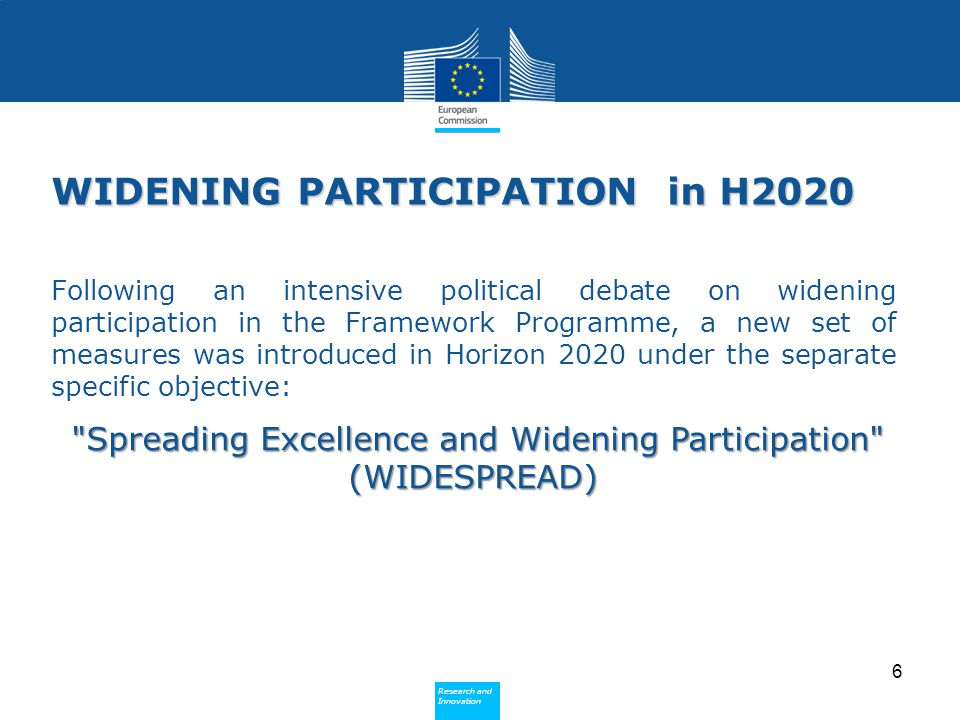 WIDENING PARTICIPATION in H2020