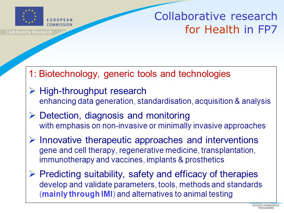 Collaborative research for Health in FP7