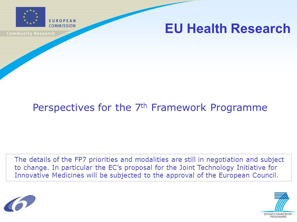 EU Health Research Perspectives for the 7th Framework Programme