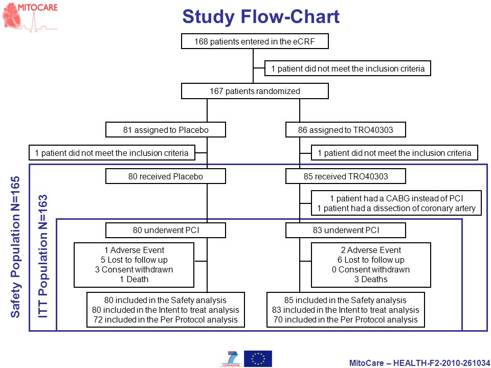 Study Flow-Chart Safety Population N=165 ITT Population N=163
