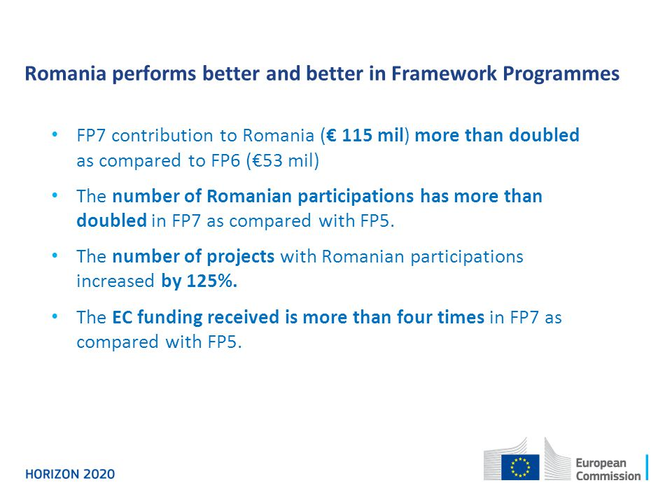 Romania performs better and better in Framework Programmes