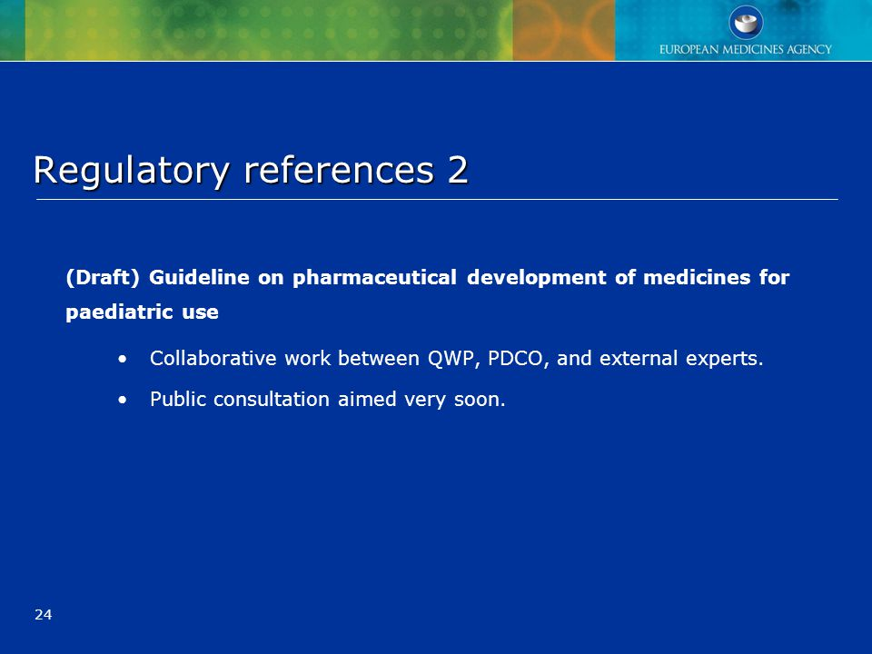 Regulatory references 2