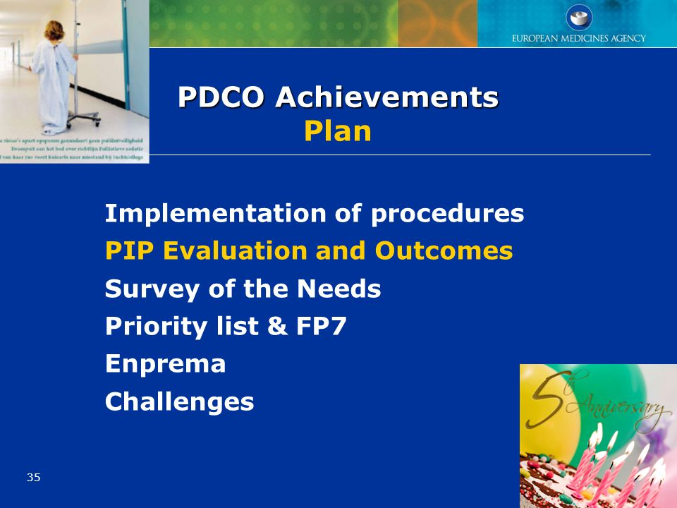 PDCO Achievements Plan
