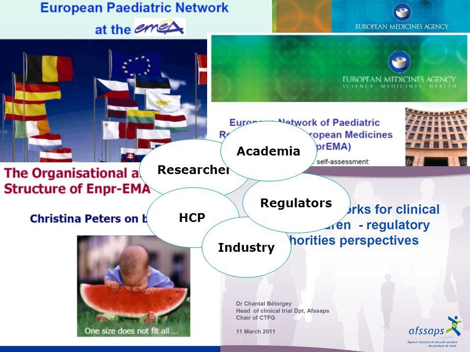 Academia Researcher Regulators HCP Industry