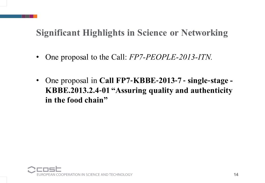 Significant Highlights in Science or Networking