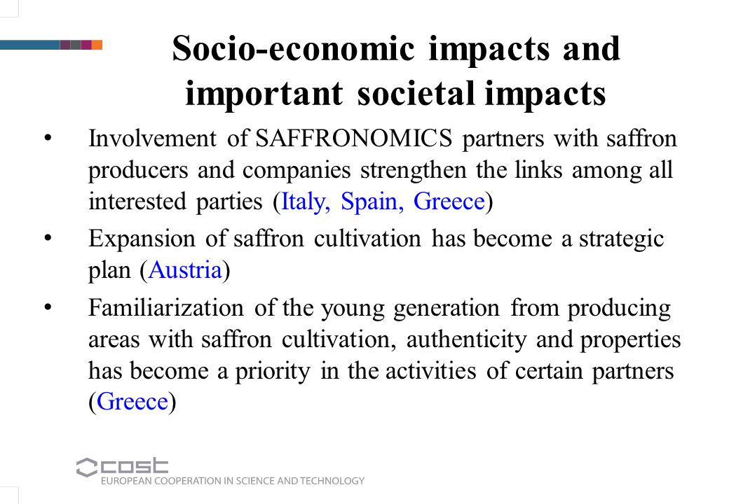 Socio-economic impacts and important societal impacts