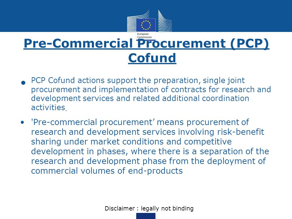 Pre-Commercial Procurement (PCP) Cofund