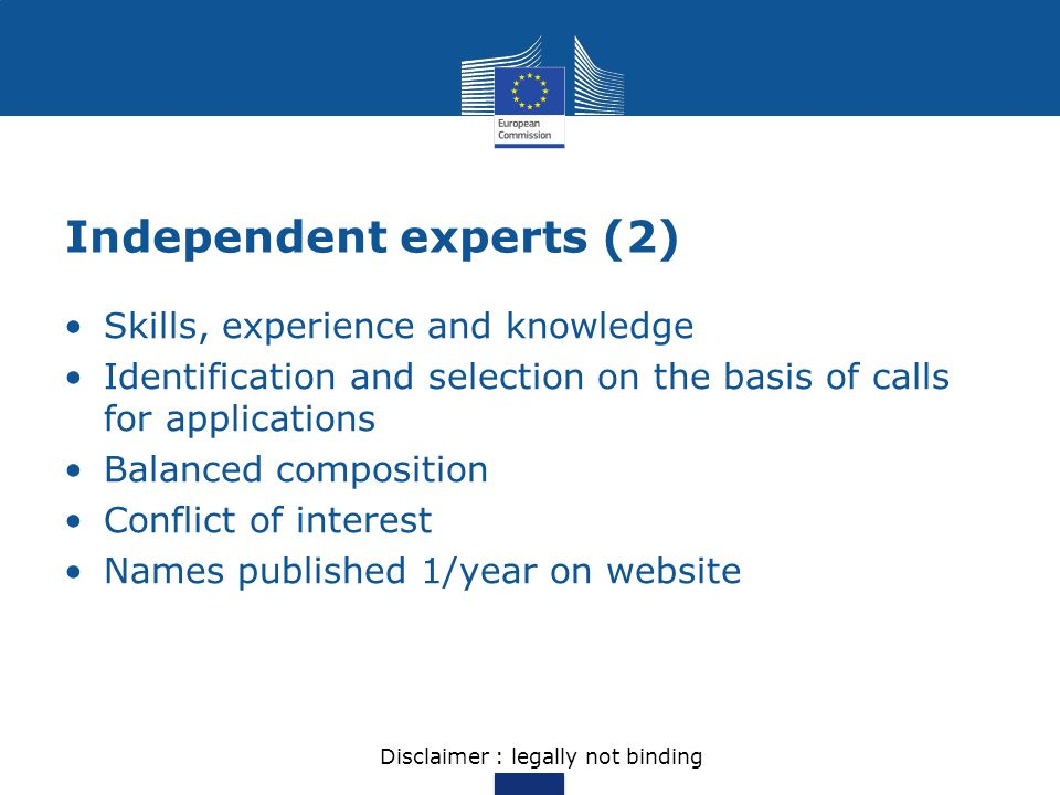 Independent experts (2)