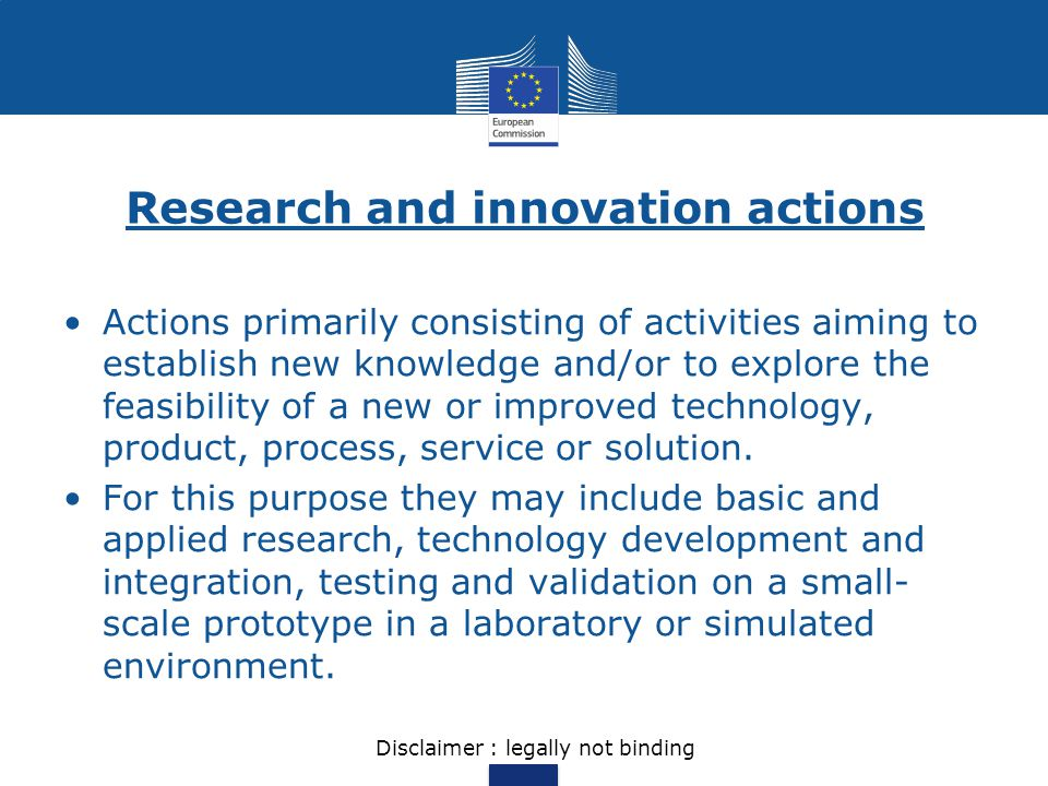 Research and innovation actions