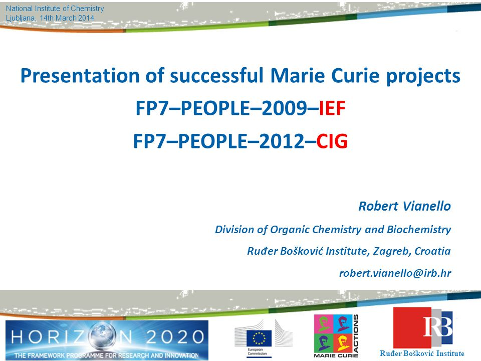 Presentation of successful Marie Curie projects