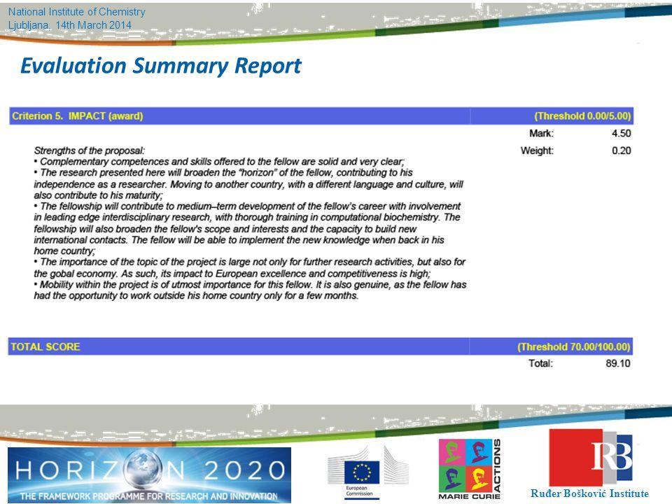 Evaluation Summary Report