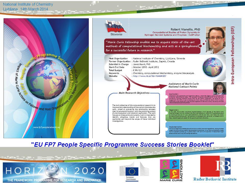 EU FP7 People Specific Programme Success Stories Booklet