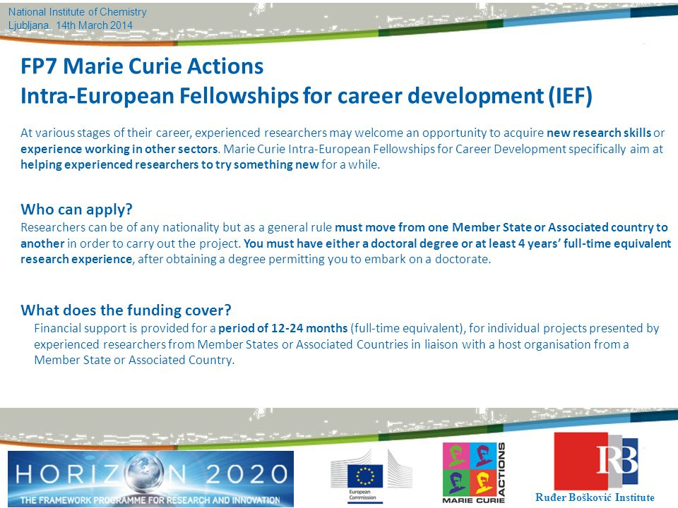 Intra-European Fellowships for career development (IEF)