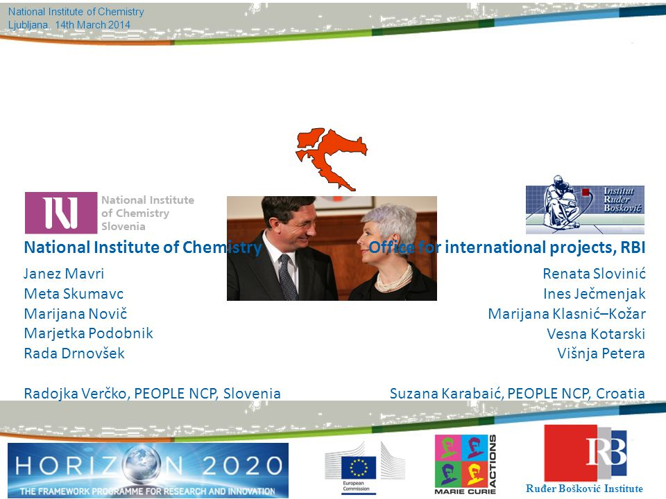 Office for international projects, RBI National Institute of Chemistry