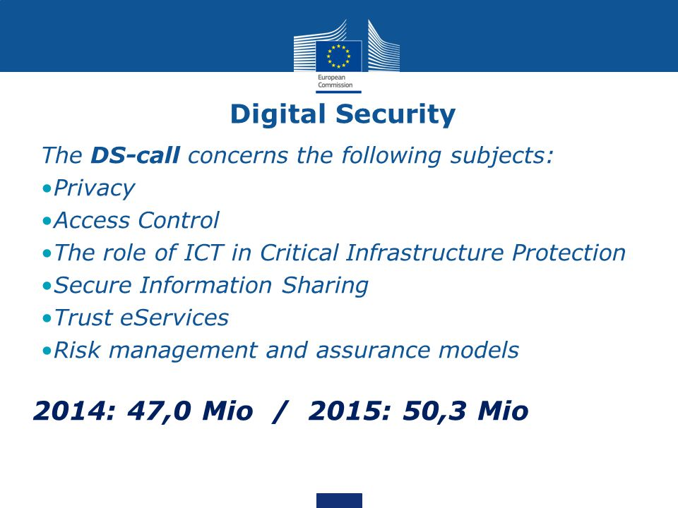 Digital Security 2014: 47,0 Mio / 2015: 50,3 Mio
