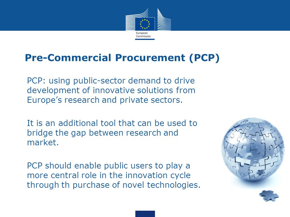 Pre-Commercial Procurement (PCP)