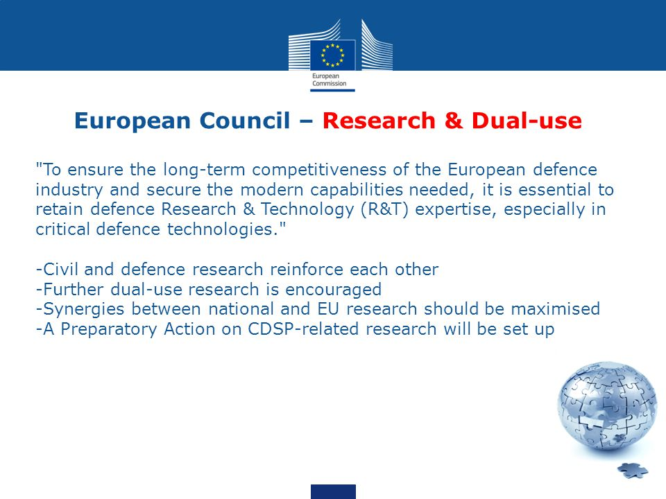 European Council – Research & Dual-use