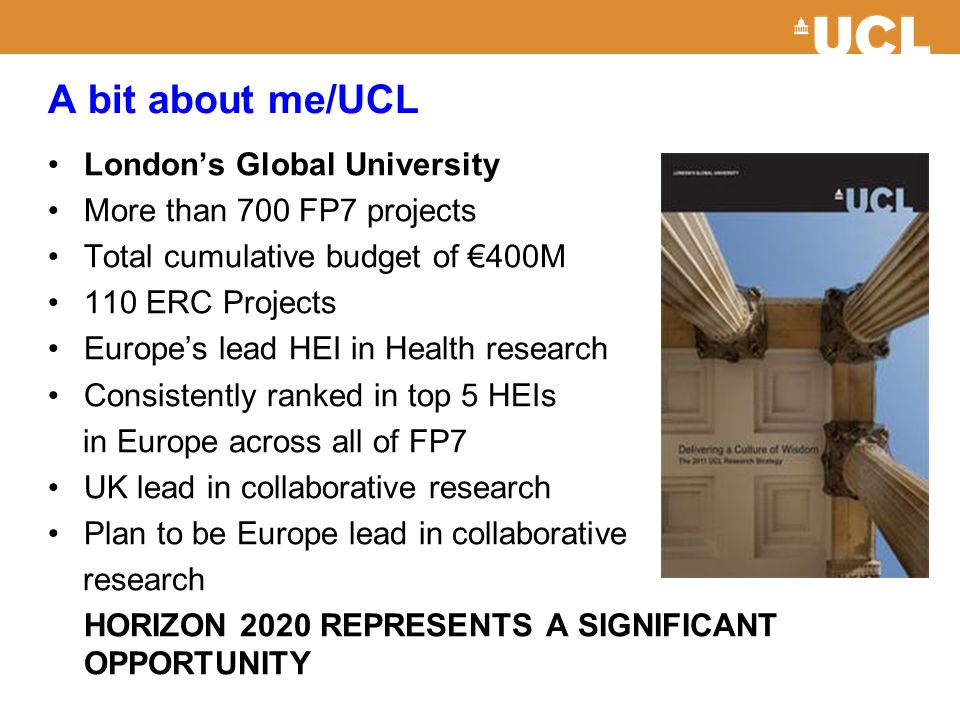 A bit about me/UCL London's Global University