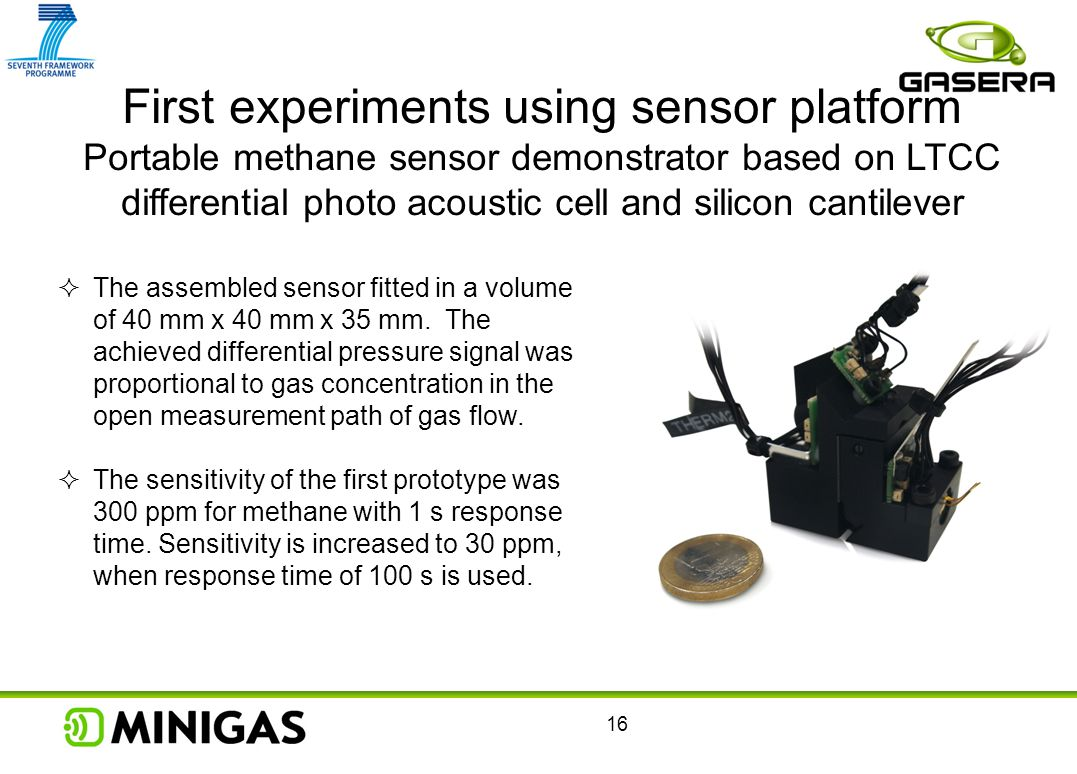 First experiments using sensor platform