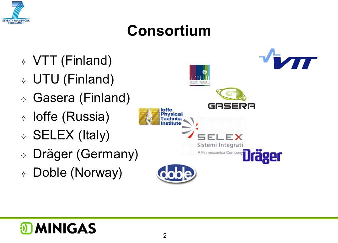 Consortium VTT (Finland) UTU (Finland) Gasera (Finland) Ioffe (Russia)