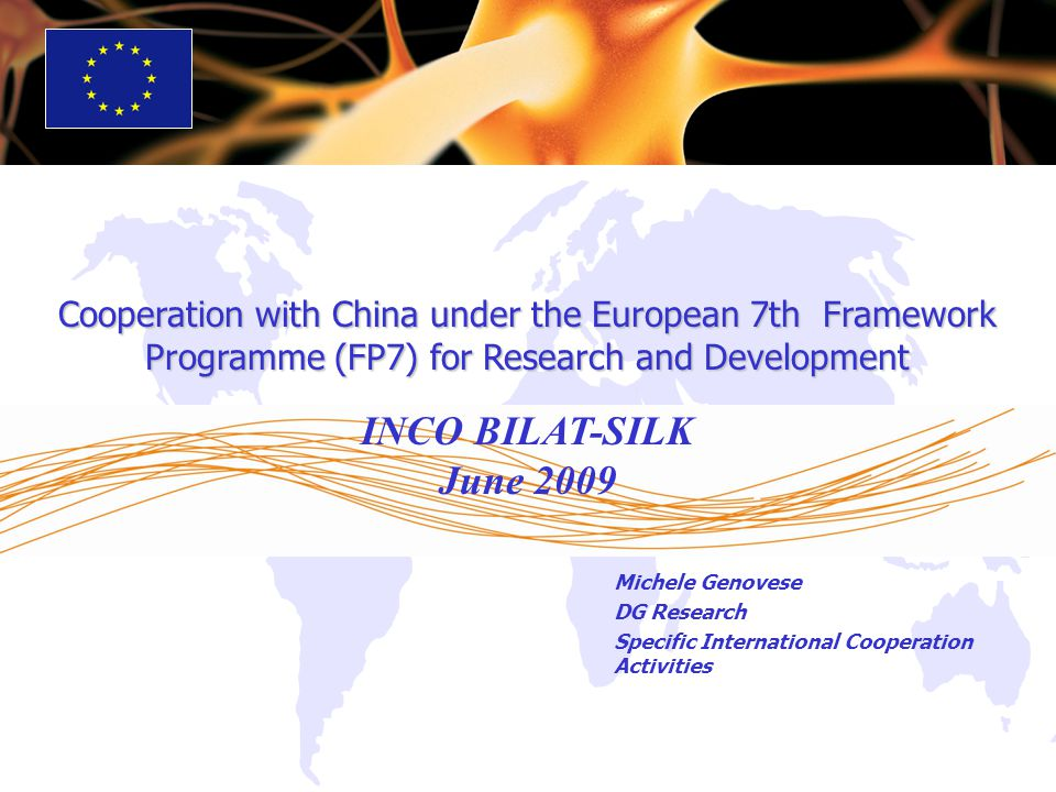 Cooperation with China under the European 7th Framework Programme (FP7) for Research and Development