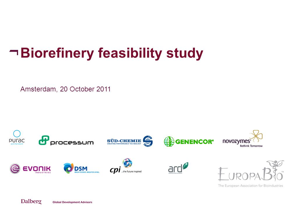 Background of feasibility study