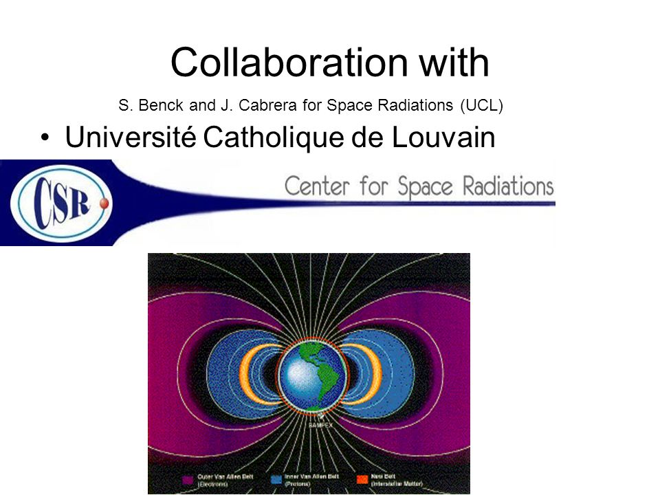 Collaboration with Université Catholique de Louvain