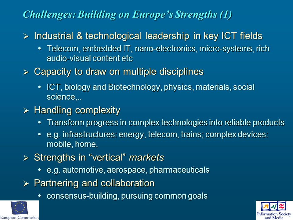 Challenges: Building on Europe's Strengths (1)