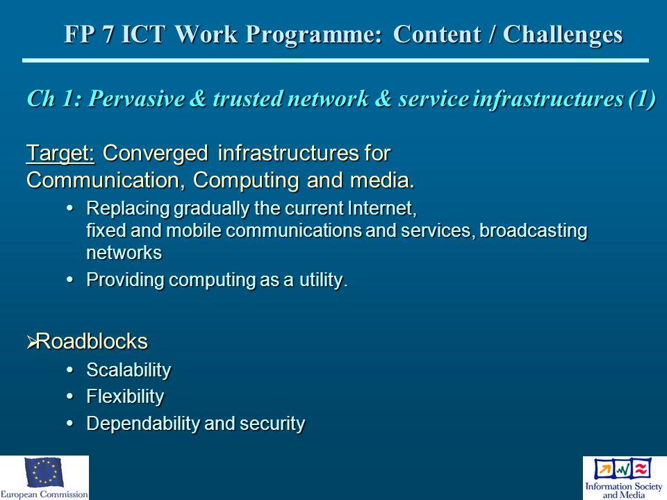 FP 7 ICT Work Programme: Content / Challenges