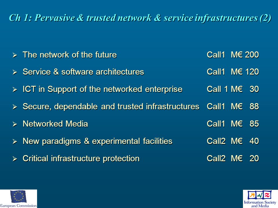 Ch 1: Pervasive & trusted network & service infrastructures (2)