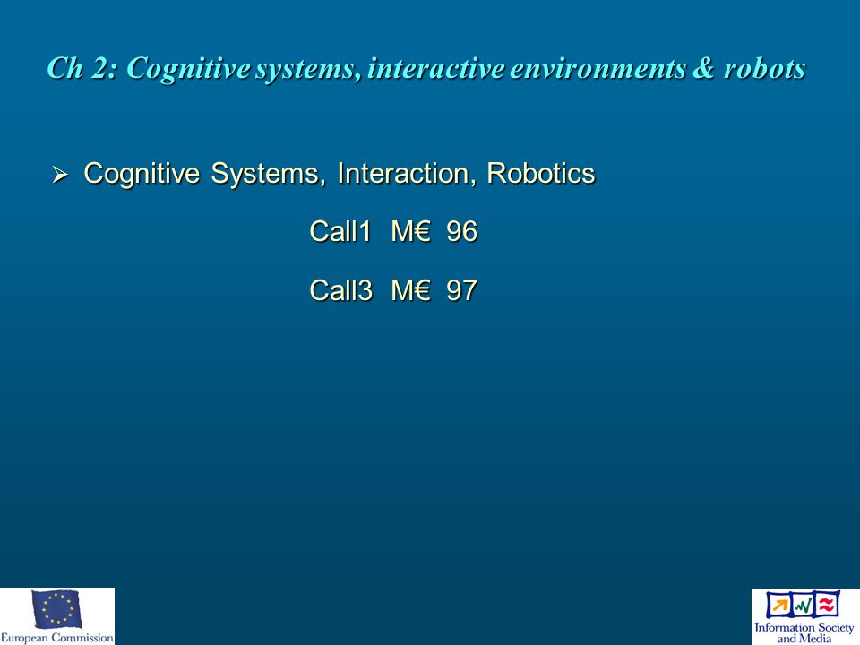 Ch 2: Cognitive systems, interactive environments & robots