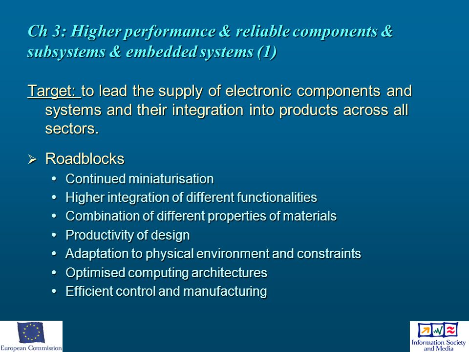 Ch 3: Higher performance & reliable components & subsystems & embedded systems (1)