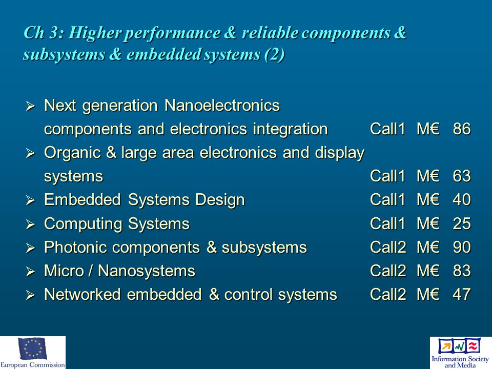 Ch 3: Higher performance & reliable components & subsystems & embedded systems (2)