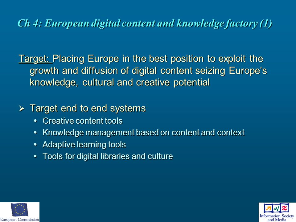 Ch 4: European digital content and knowledge factory (1)