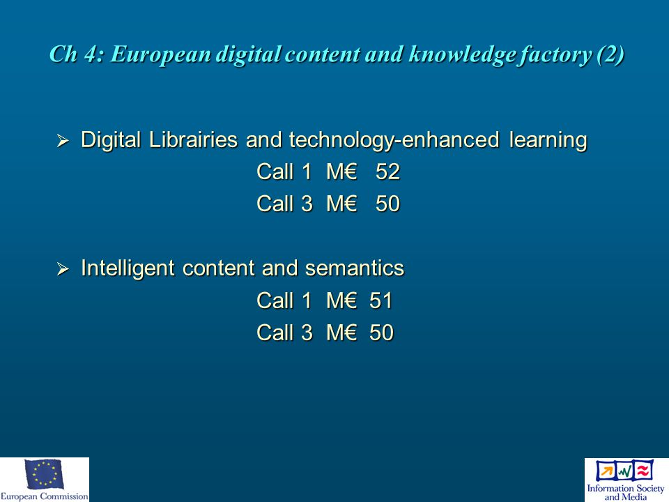 Ch 4: European digital content and knowledge factory (2)
