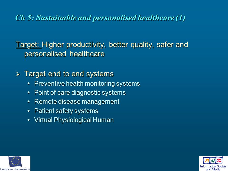 Ch 5: Sustainable and personalised healthcare (1)