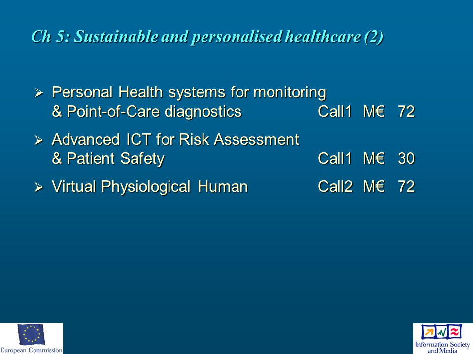 Ch 5: Sustainable and personalised healthcare (2)