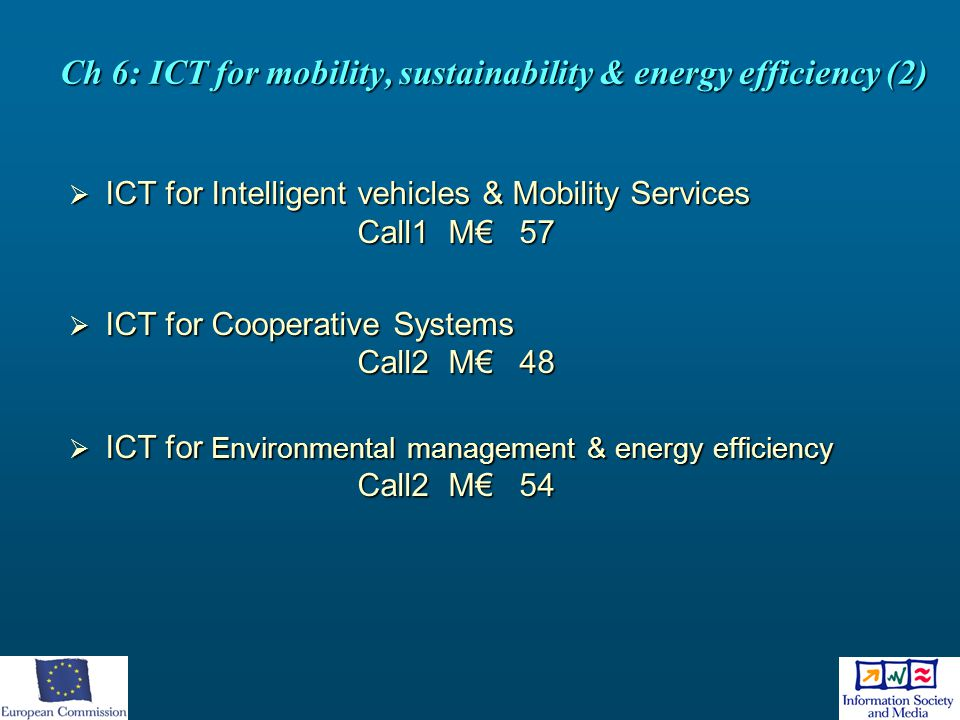 Ch 6: ICT for mobility, sustainability & energy efficiency (2)