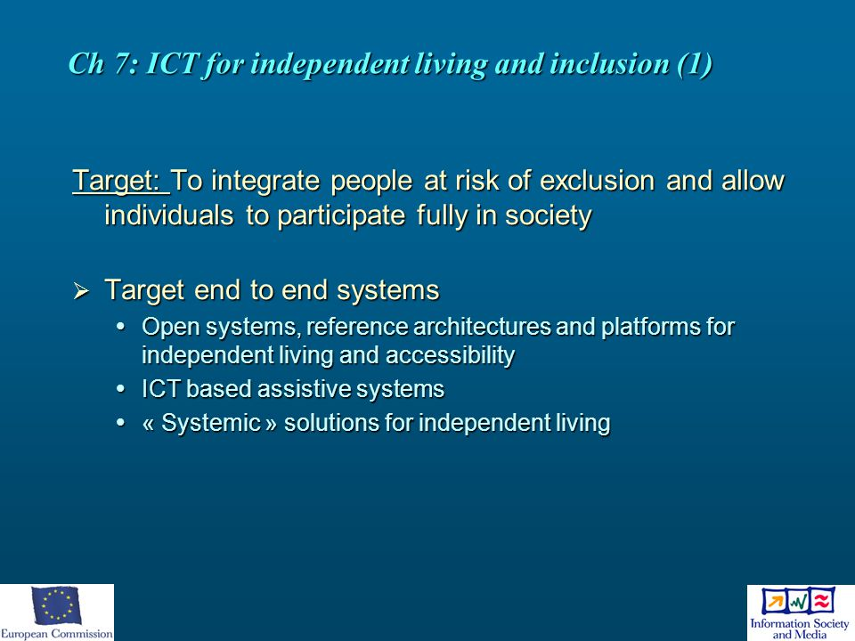 Ch 7: ICT for independent living and inclusion (1)