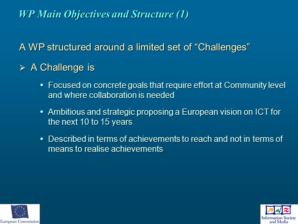 WP Main Objectives and Structure (1)