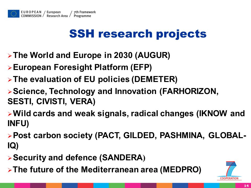 SSH research projects The World and Europe in 2030 (AUGUR)