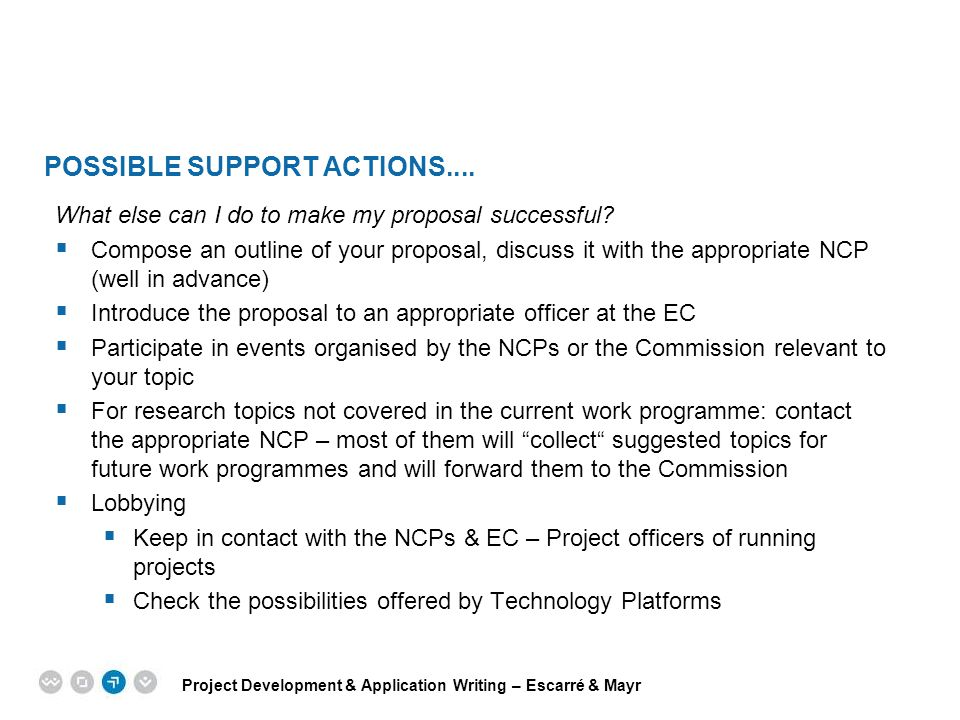 possible Support Actions....