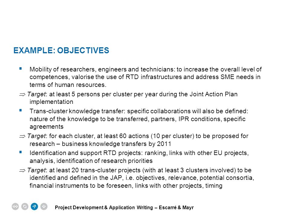 Example: Objectives