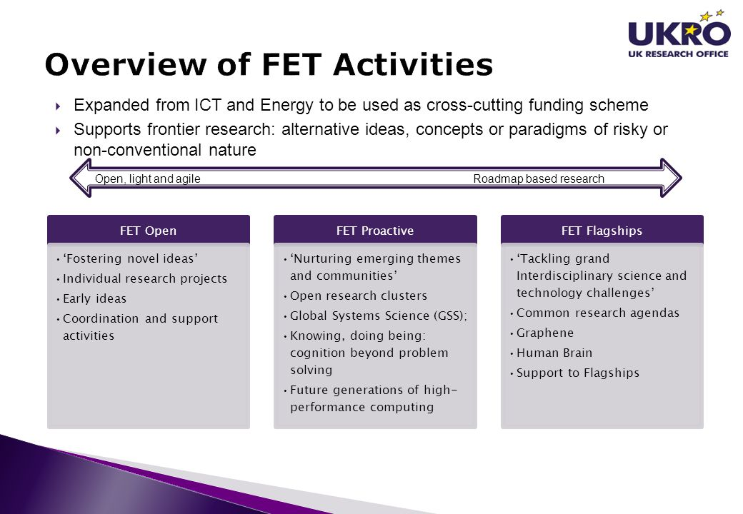 Overview of FET Activities